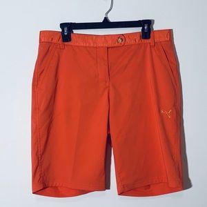 Womens Puma LPGA Golf Shorts 10 Orange